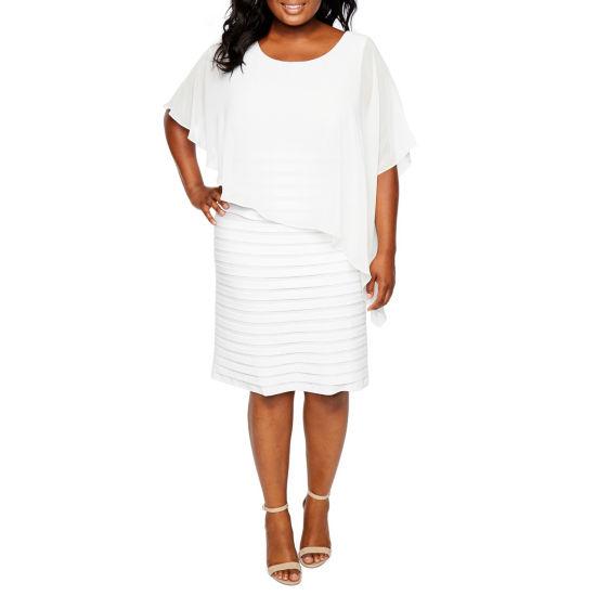 Scarlett Elbow Sleeve Cape Dress Plus Jcpenney