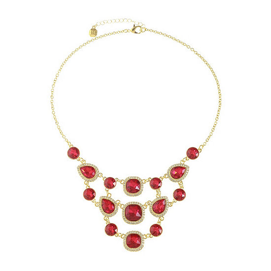 Monet Jewelry Red 18 Inch Cable Statement Necklace