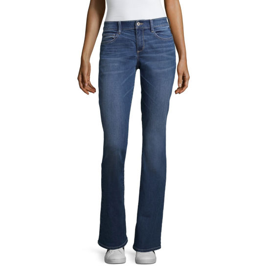Arizona Bootcut Jeans-Juniors