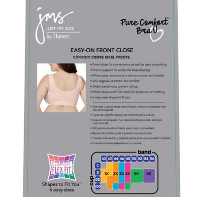 Just My Size Pure Comfort 2-Pack Wireless Full Coverage Bra-Mj127p