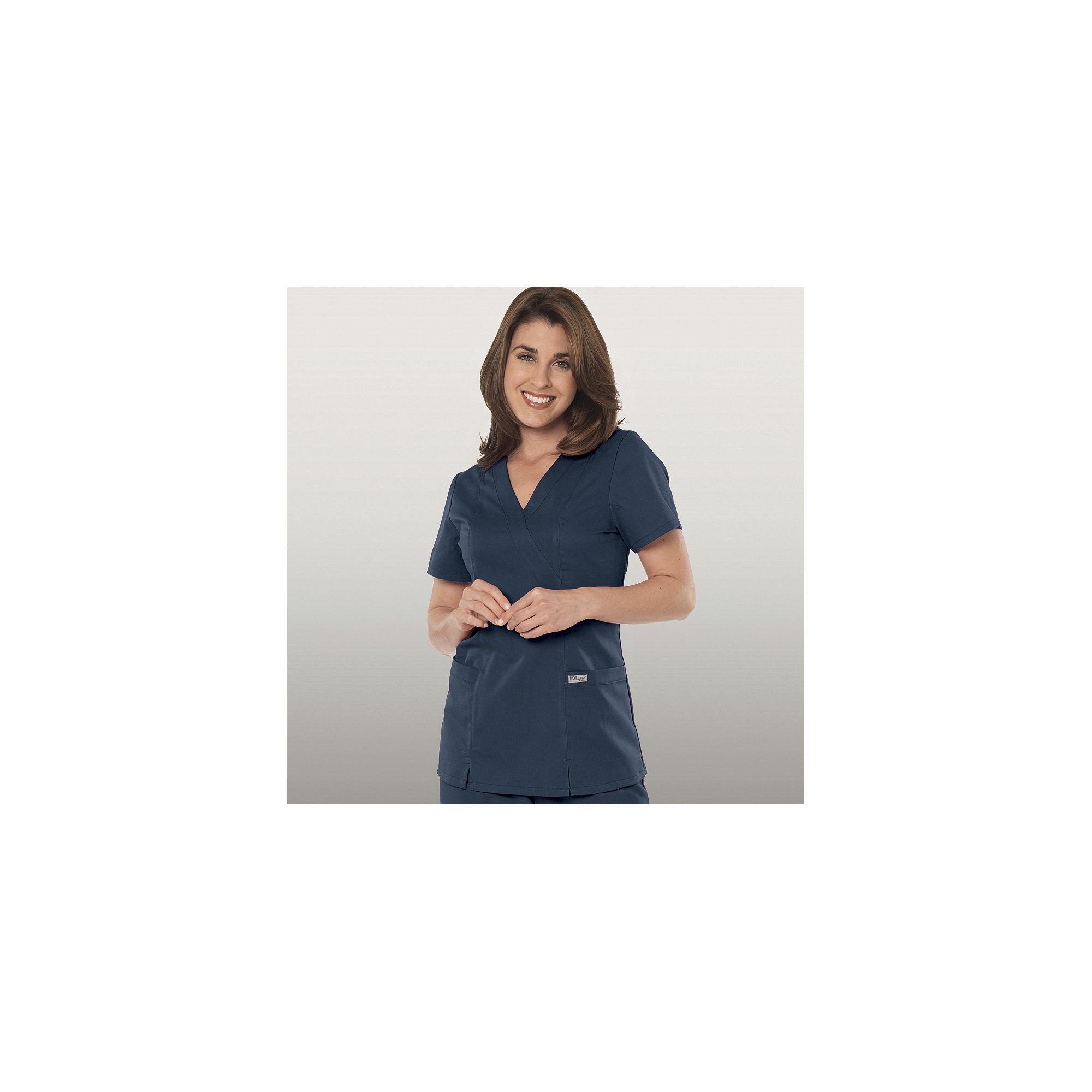 Grey's Anatomy™ Womens Scrub Mock Wrap Top plus size,  plus size fashion plus size appare