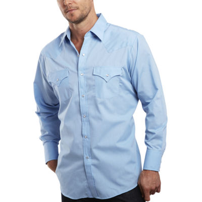 Ely Cattleman® Long-Sleeve Snap Shirt - Tall