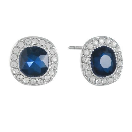 Monet Jewelry Blue 14.3mm Stud Earrings