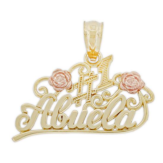 Religious Jewelry Unisex 14K Gold Two Tone Pendant