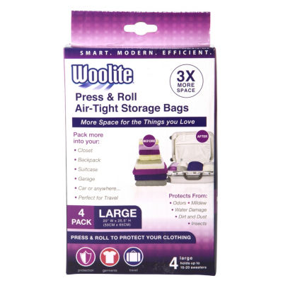 "4 Piece Hand Roll Vacuum Storage Bag 20"" X 20.50"