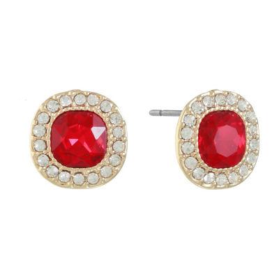 Monet Jewelry Red 14.3mm Stud Earrings