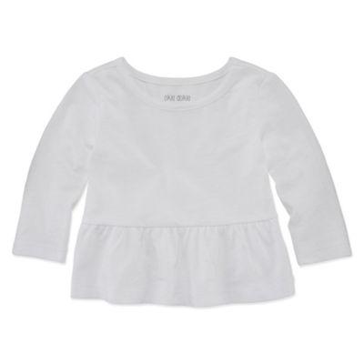 Okie Dokie Long Sleeve Peplum Top - Baby Girl NB-24M