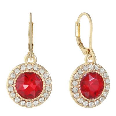 Monet Jewelry Red Drop Earrings