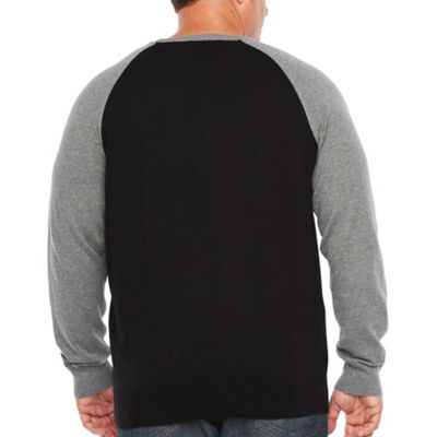 The Foundry Big & Tall Supply Co. Crew Neck Long Sleeve Pullover Sweater - Big and Tall