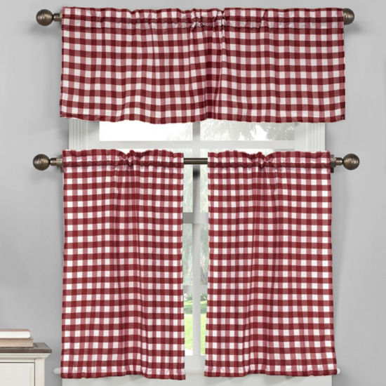 Duck River Kingston 3-Piece Kitchen Curtain Set