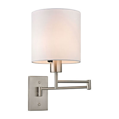 Carson 1 Light LED Swingarm Wall Sconce In Brushed Nickel