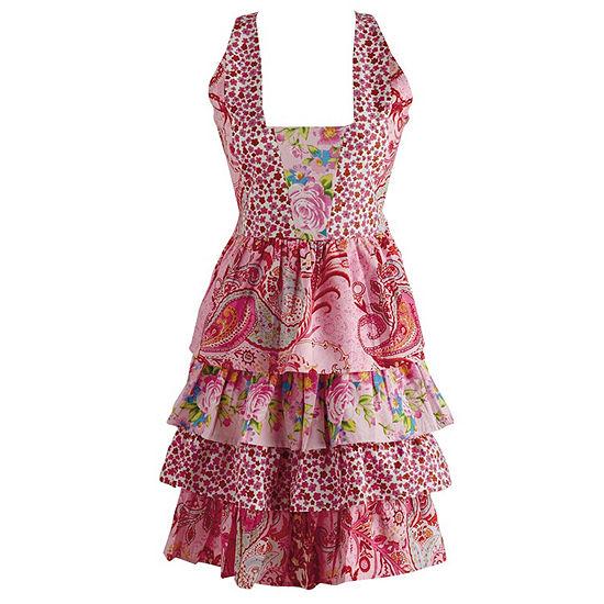 Pink Floral Vintage Apron