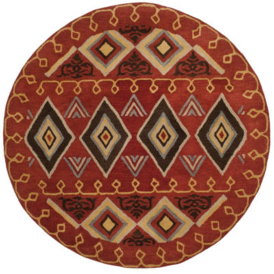 Safavieh Heritage Collection Ruth Geometric RoundArea Rug