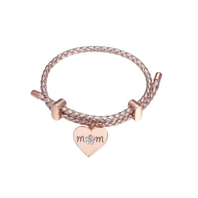 Footnotes Footnotes Footnotes Womens Clear Silver Over Brass Bolo Bracelet