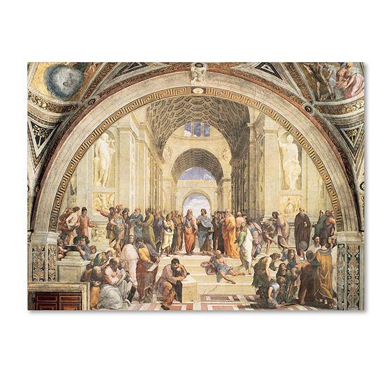 Trademark Fine Art Raphael School Of Athens Giclee Canvas Art