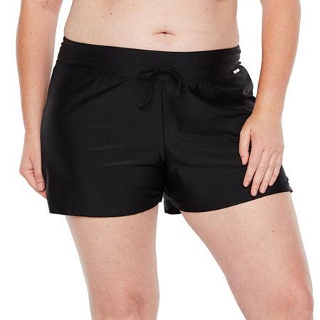 Zeroxposur Swim Shorts Swimsuit Bottom Plus, 0x , Black