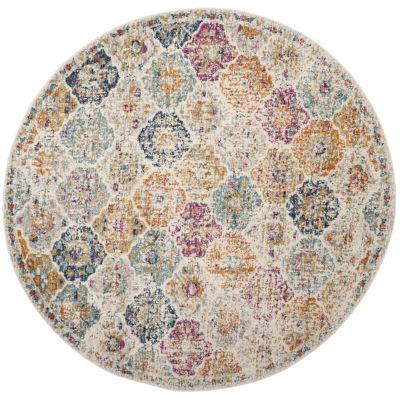 Safavieh Madison Collection Sally Geometric RoundArea Rug
