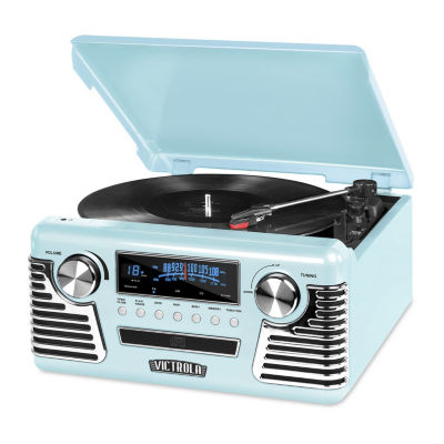Victrola V50-200-TEL Retro Record Player with Bluetooth and 3-Speed Turntable