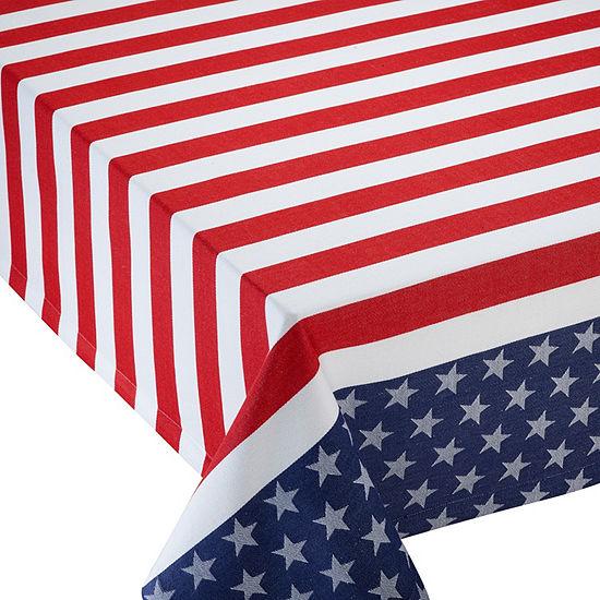 Design Imports Stars & Stripes Jacquard Tablecloth