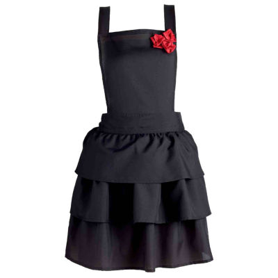 Ruffles And Red Roses Vintage Apron