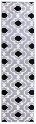 World Rug Gallery Moroccan Trellis Contemporary Runner Rug