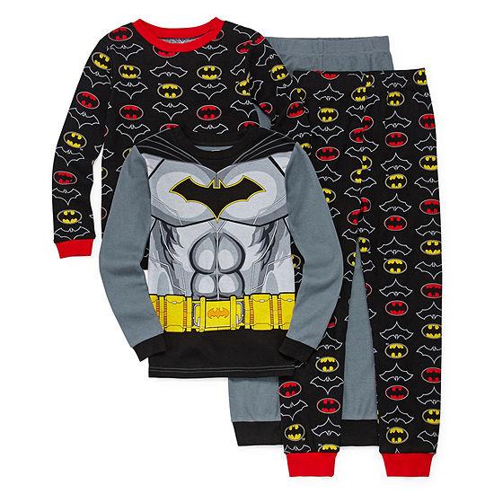 Boys 4-pc. Batman Pajama Set Big Kid