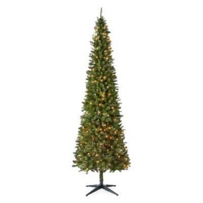 North Pole Trading Co. 9 Foot Dresden Slim Pre-Lit Christmas Tree