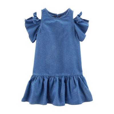 Carter's Sleeveless Cold Shoulder Sleeve A-Line Dress - Toddler Girls