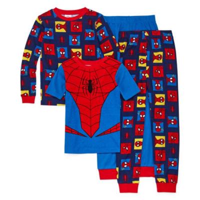 4-pc. Spiderman Pajama Set Preschool Boys