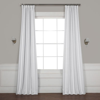 Exclusive Fabrics & Furnishing Swiss Coffee Bellino Blackout Rod-Pocket/Back-Tab Curtain Panel