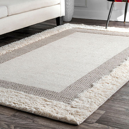 nuLoom Taneka Shaggy Woven Area Rug, One Size , Beige