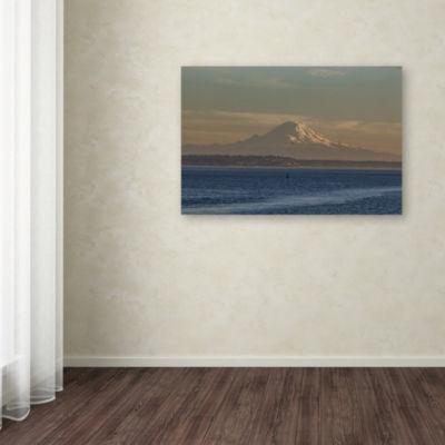 Trademark Fine Art Yale Gurney Mt Rainier in Her Glory Giclee Canvas Art