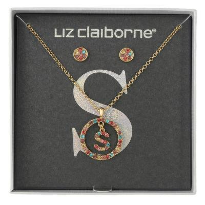Liz Claiborne Multi Color Gold Tone 2-pc. Jewelry Set
