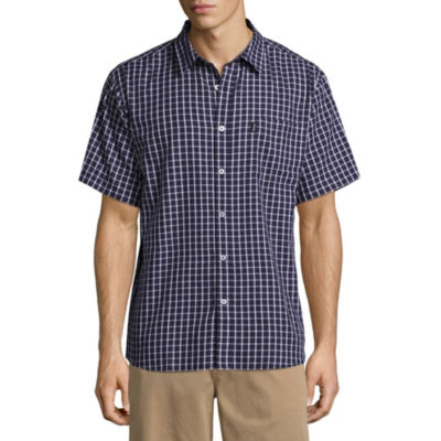 Dickies Short Sleeve Plaid Button-Front Shirt