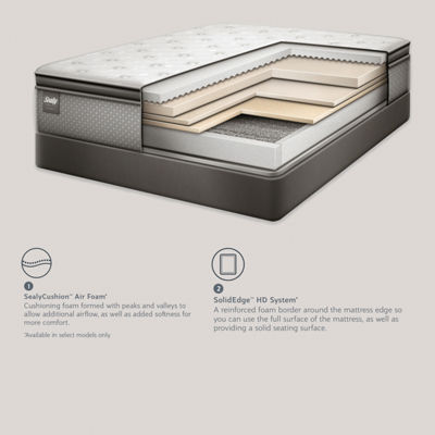 Sealy® Oak Grove LTD Plush Eurotop - Mattress + Box Spring