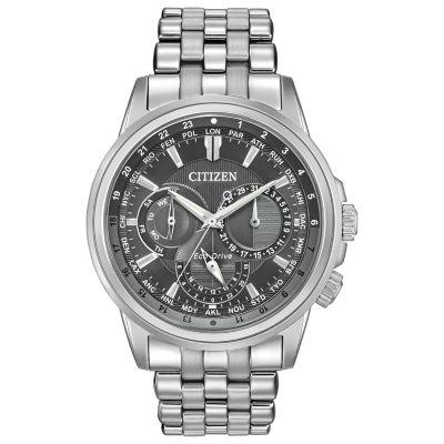 Citizen Mens Silver Tone Bracelet Watch-Bu2021-51h