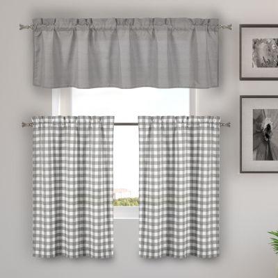 Duck River Kinglough 3-Piece Kitchen Curtain Set