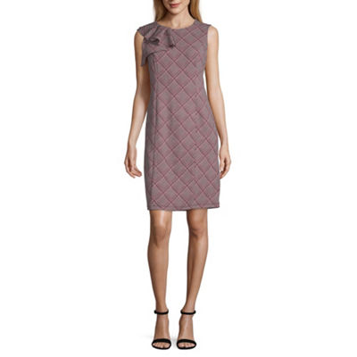 Liz Claiborne Sleeveless Plaid Sheath Dress