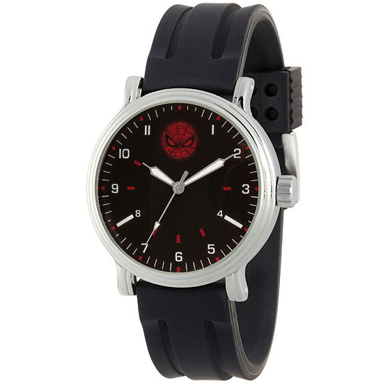 Spiderman Mens Black Strap Watch Wma000266