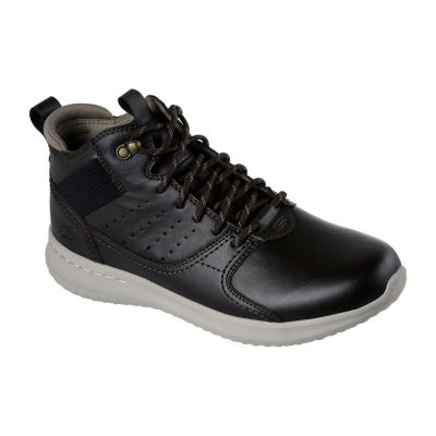 Skechers Mens Delson Oxford Shoes Lace-up Round Toe
