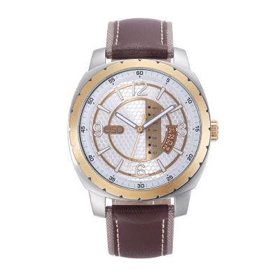 Esq Mens Brown Strap Watch-37esq011101a