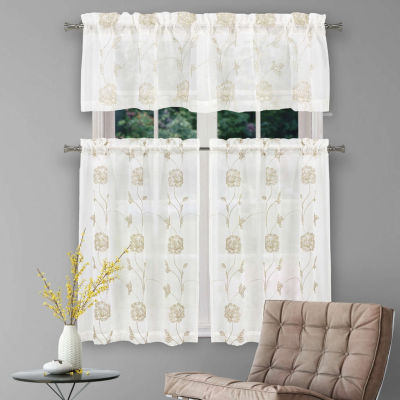 Duck River Trixy 3-Piece Kitchen Curtain Set