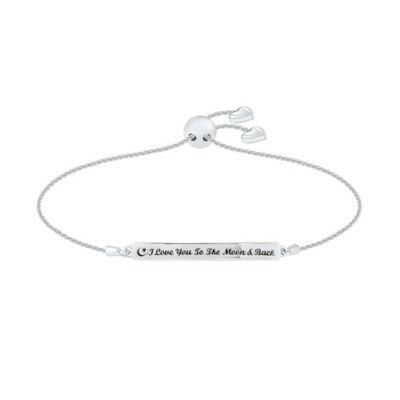10K White Gold Bolo Bracelet
