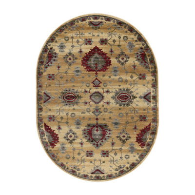 Tayse Gabrielle Transitional Border Oval Area Rug