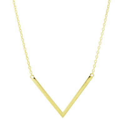 Sechic Womens 14K Gold Chevron Necklace