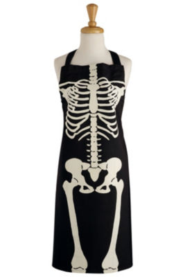 Skeleton Printed Chef Apron