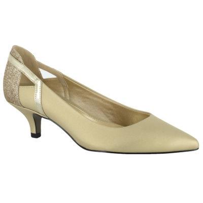 Easy Street Fancy Womens Pumps Slip-on Pointed Toe Kitten Heel