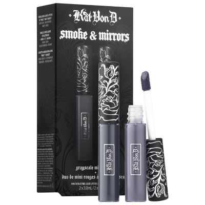 Kat Von D Smoke & Mirrors Grayscale Mini Lip Everlasting Liquid Lip Duo