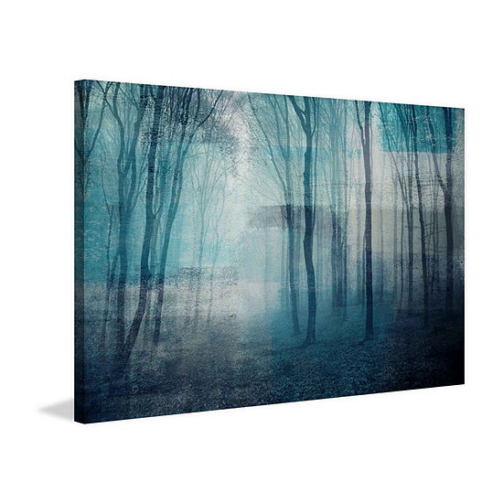 Partial Light Painting Print on Wrapped Canvas