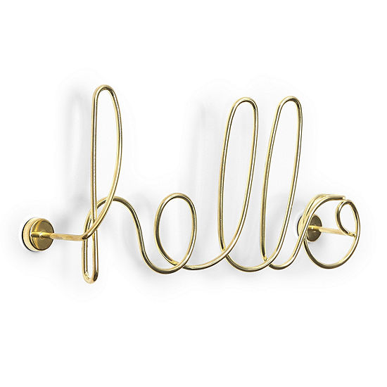 Umbra Wired Hello Brass Metal Wall Art